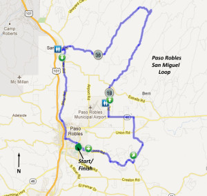 Paso - San Miguel Loop Map
