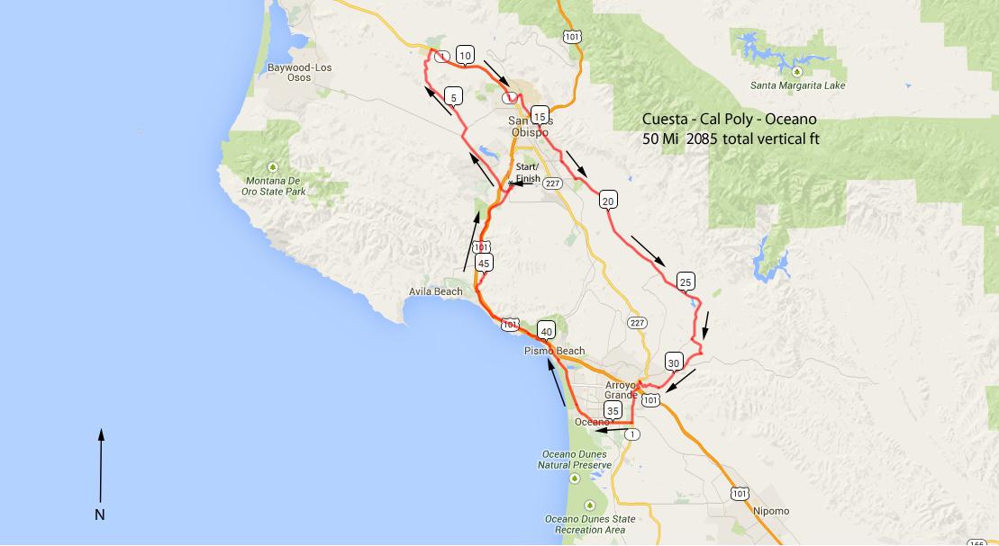 Dec 27th Cuesta-Cal Poly-Oceano Ride – SLO Velo Cycling San Luis Cal Poly Maps on