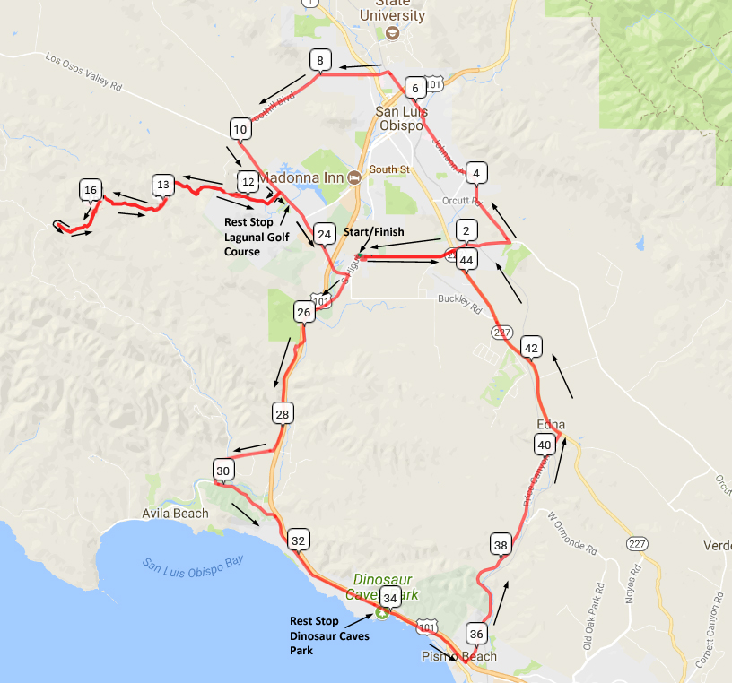 Sat. Feb 10th SLO – Prefumo – Price Canyon – SLO Velo ...